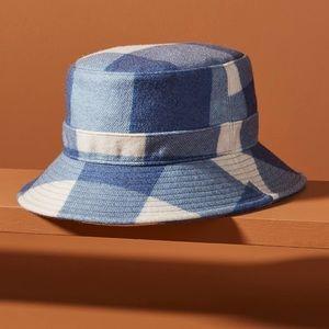 Anthropologie Wyeth Belle Bucket Hat In Blue NWT